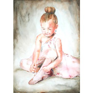 Watercolor Portrait - 11 x 14 original painting in watercolor by Jamie Hansen