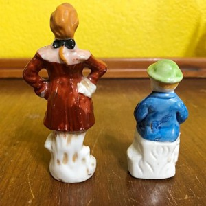 2 Vintage Miniature Porcelain Figurines 1930-1940's