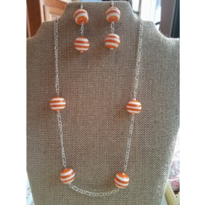 Fun Summer Orange striped balls