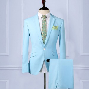 Custom Wedding Suit【Handmade】Mens Suit wool blend 2piece