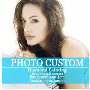 customize photo diy diamond painting full dril portrait paint on canvas family picture pet lover poster design 40cmx50cm