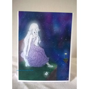 Galaxy Goddess-Color Digital Art Blank Notecards w/Envelopes Boxed Set of 5 Teen, Young Adult Gift Digital Art
