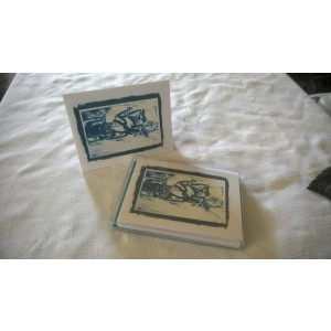 Cross Country Blue- Boxed Set of 5 Color Blank Notecards w/Envelopes