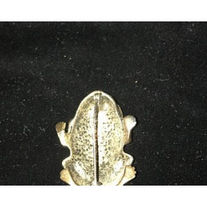 Vintage Brass Frog Pin from the 50s