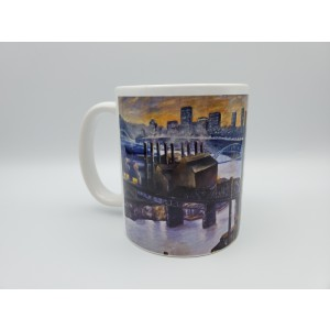 J and L Steel Mill Hot Metal Bridge Pittsburgh Ceramic Coffee Mug Original Design