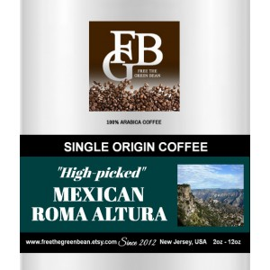 40 pound Special! Mexican Roma Altura Coffee. Whole Bean only. When you order a quantity of 1, you are ordering 40 lbs. FREE shipping!