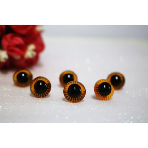 14mm Transparent Crystal Tea Plush Toy Animal Eyes Safety Owl Eyes - 3 pairs / 6 pcs
