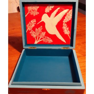 Silhouette Hummingbird Reflection Box