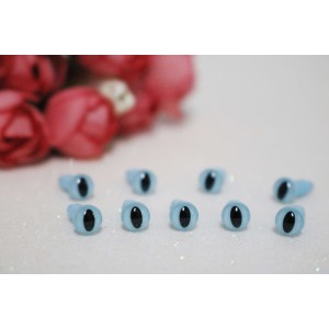6 mm Blue Amigurumi Doll Plush Animal Toys Plastic Safety Cat Eyes