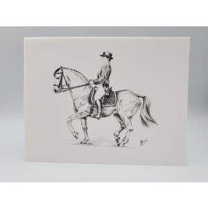 Dressage-B/W Blank Notecards w/Envelopes Boxed Set of 5