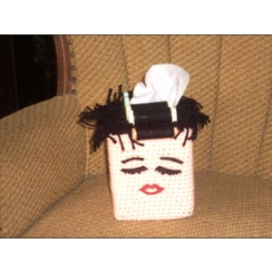 Aunt Betty Tissue Box Cover Bath Decor Bathroom Accessory Bad Hair Day