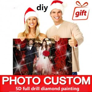 customize photo diy diamond painting full dril portrait paint on canvas family picture pet lover poster design 70cmx90cm