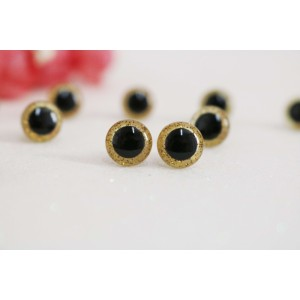 9 mm Yellow Glitter Soft Toys Craft Animal Eyes Handicraft Plastic Stuffed Toy Eyes