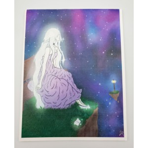 Galaxy Goddess- Color Digital Art Blank Notecards w/Envelopes Boxed Set of 5 Teen, Young Adult Gift Digital Art