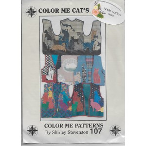 Cat Vest Pattern Applique Cats Womens