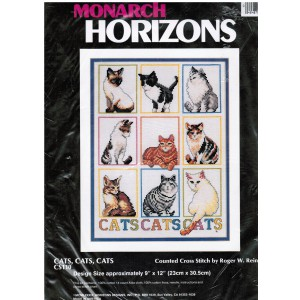 Cats Counted Cross Stitch Monarch Horizons Cat Kittens Felines