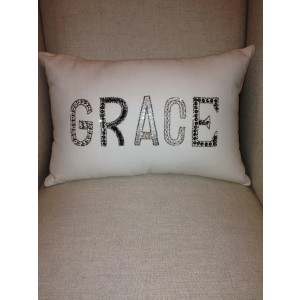 Beaded Grace pillow