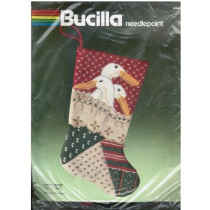 Bucilla Needlepoint Farm Decor Christmas Stocking Kit, DIY Holiday Stocking Kit