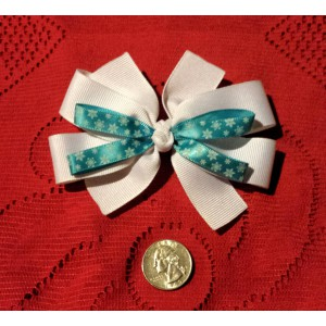 Snowflake layered hair bow