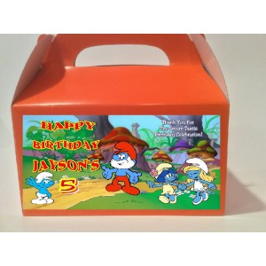Qty 4 Smurfs Candy Favor Goody Boxes
