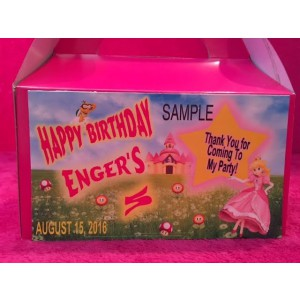 Qty 4 Princess Peach, Candy, Goody Boxes, Party, Birthday