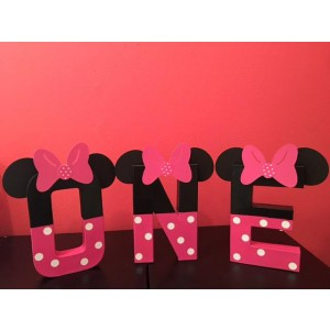 Minnie Mouse Birthday, Room Decor, Photo Shoot, 3D Paper Mache,ONE, 1st Birthday