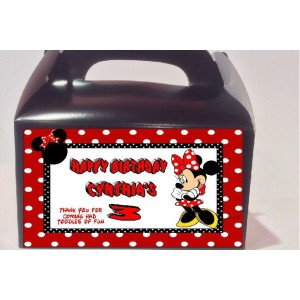 Qty 4 Minnie Mouse Party Favor Goody Party Box