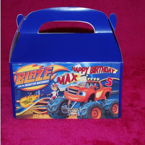 Qty 4 Blaze and the Monster Machines Party Candy Favor Goody Boxes