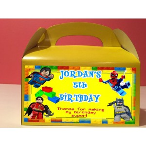Qty 4 Goody Boxes, Lego Super Hero Birthday