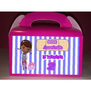 Qty 4 Doc McStuffins Party Good Favor Box