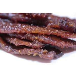 Black Peppercorn Smoked Bacon Jerky 4 ounce portions