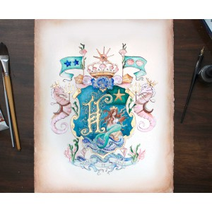 Wedding Coat of Arms - Custom heraldic art by Jamie Hansen
